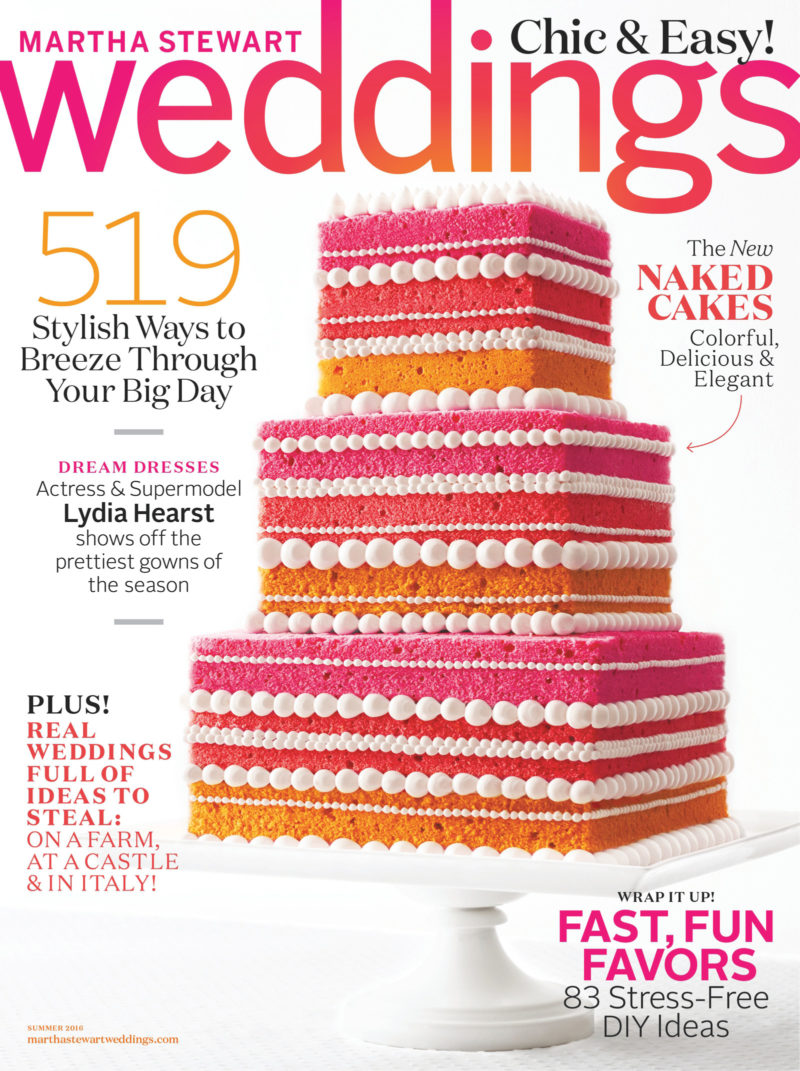Sasha Tyler Published In Martha Stewart Weddings Jodi And