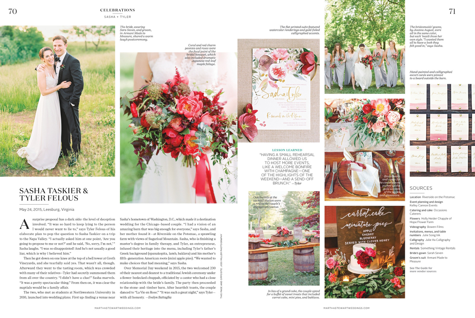 Sasha & Tyler - Published In Martha Stewart Weddings - Jodi And Kurt ...